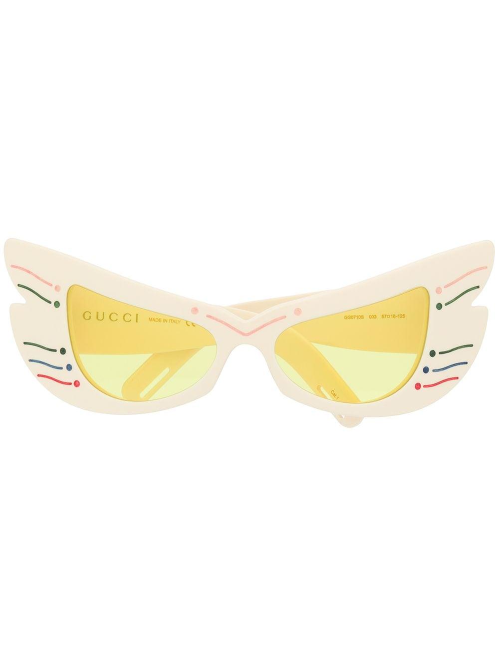 Gucci Eyewear Oversized-Sonnenbrille im Cat-Eye-Design - Gelb