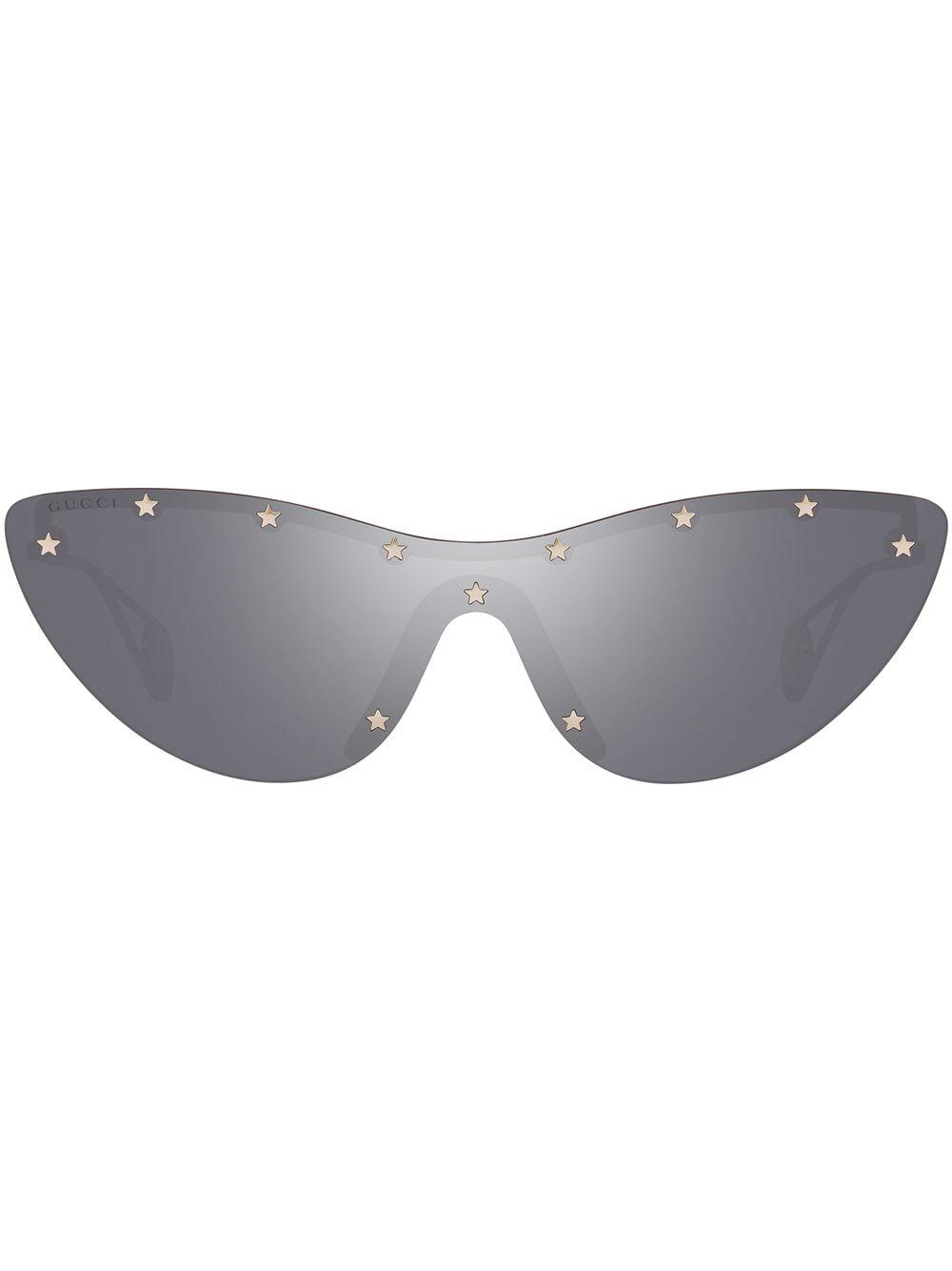 Gucci Eyewear Sonnenbrille mit Nieten - Silber