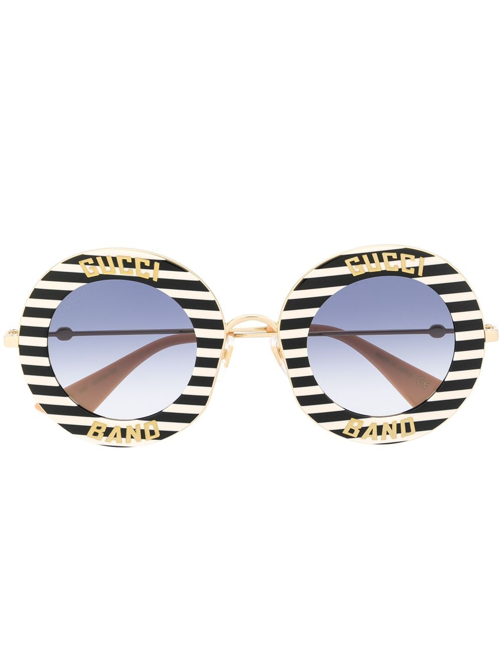 Gucci Eyewear Sonnenbrille mit runden Gläsern - Weiß