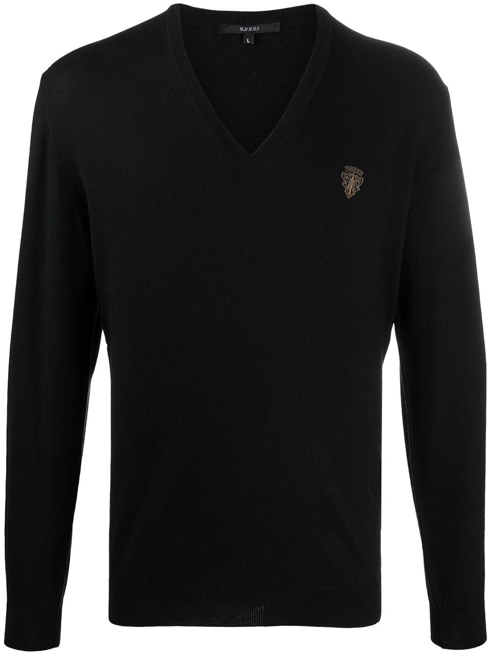 Gucci Sweatshirt mit Logo-Patch - Schwarz