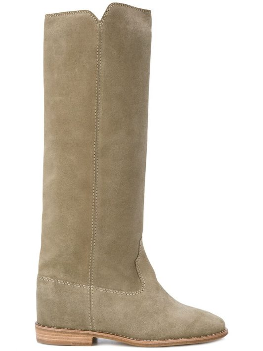 Isabel Marant 'Cleave' Wedge-Wildlerstiefel - Nude