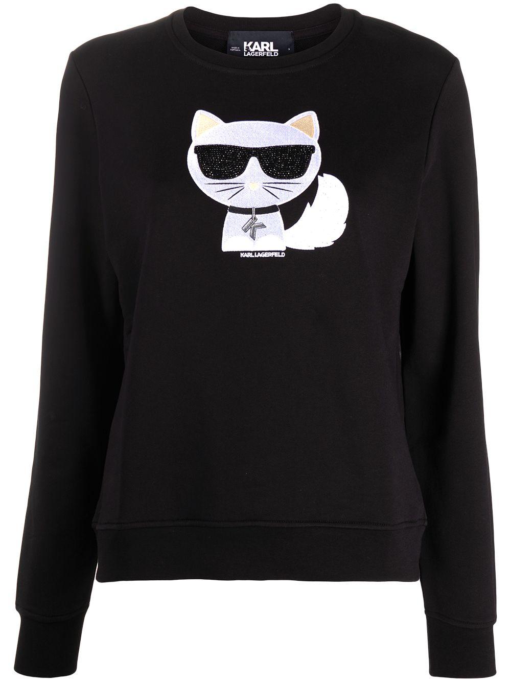 Karl Lagerfeld 'Choupette' Sweatshirt - Schwarz