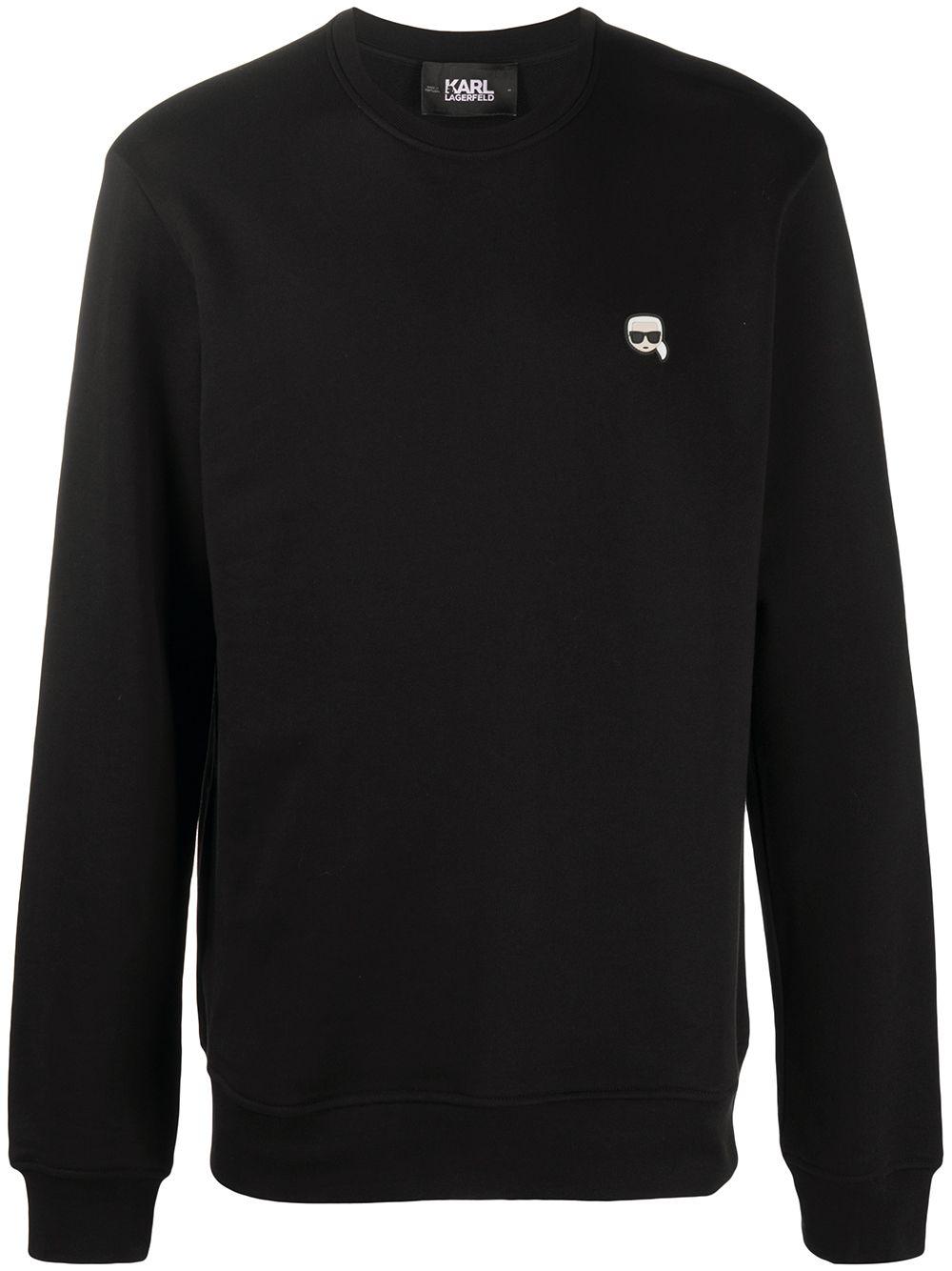 Karl Lagerfeld T-Shirt mit Ikonik-Patch - Schwarz