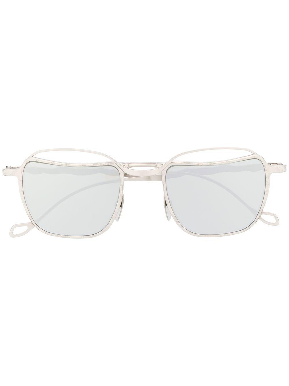 Kuboraum Sonnenbrille mit eckigem Gestell - Silber