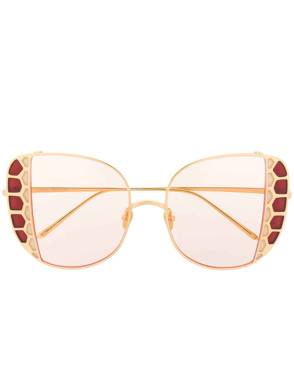 Linda Farrow 'Amelia' Oversized-Sonnenbrille - Gold