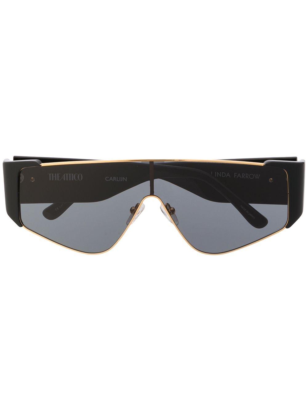 Linda Farrow 'Attico' Oversized-Sonnenbrille - Schwarz