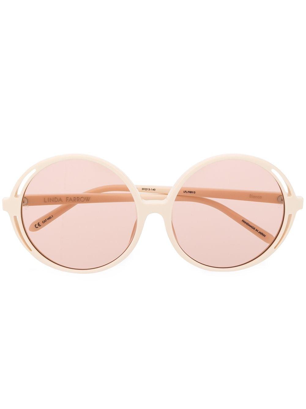 Linda Farrow 'Bianca' Sonnenbrille - Nude