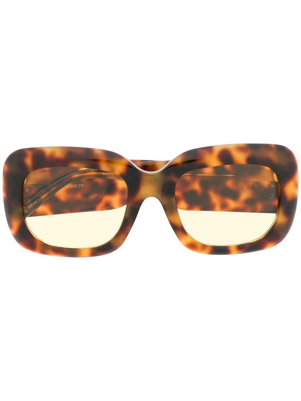 Linda Farrow Sonnenbrille in Schildpattoptik - Braun