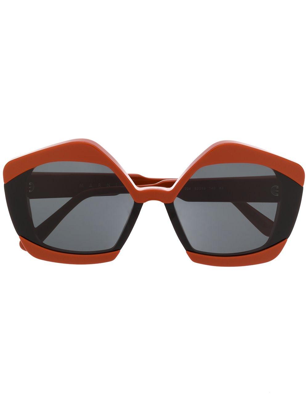 Marni Eyewear Oversized-Sonnenbrille - Orange