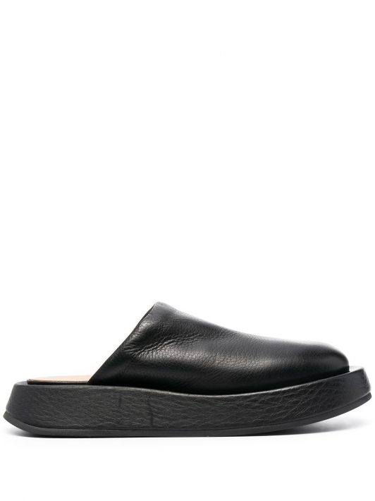 Marsèll leather slippers - Schwarz