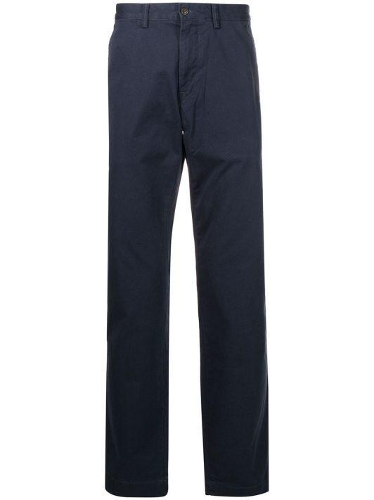 Polo Ralph Lauren logo-patch straight-leg trousers - Blau