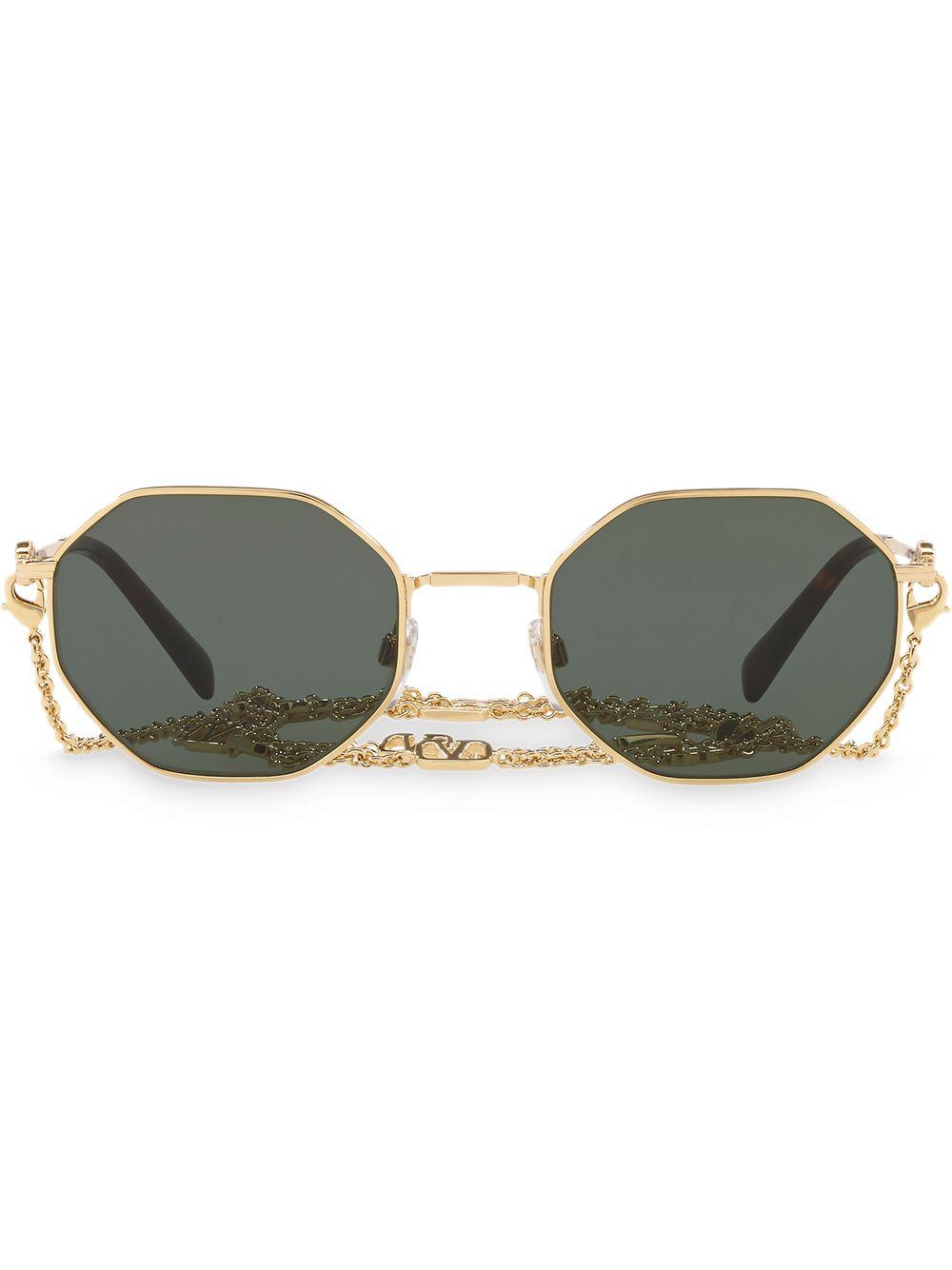 Valentino Eyewear Klassische Sonnenbrille - Gold