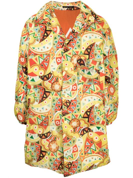 Yohji Yamamoto Pre-Owned Gefütterter Mantel mit Paisley-Print - Gelb