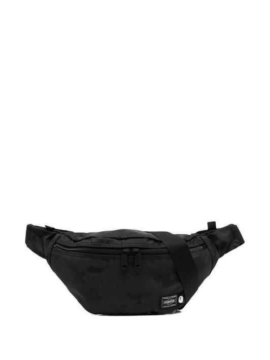 A BATHING APE® logo patch belt bag - Schwarz