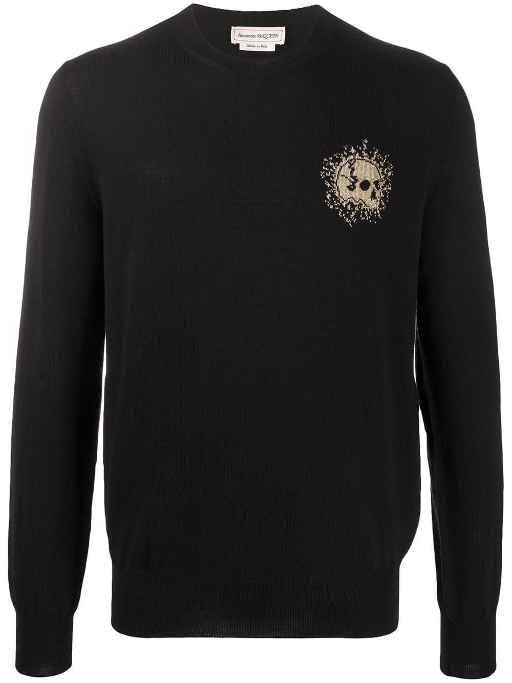 Alexander McQueen Sweatshirt mit Totenkopf-Print - Schwarz