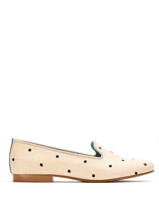 Blue Bird Shoes Bestickte Slipper - Nude