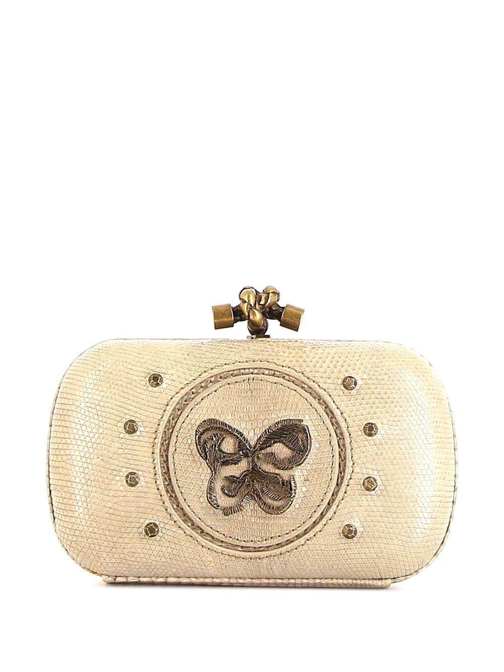 Bottega Veneta Pre-Owned 'Butterfly' Clutch - BEIGe