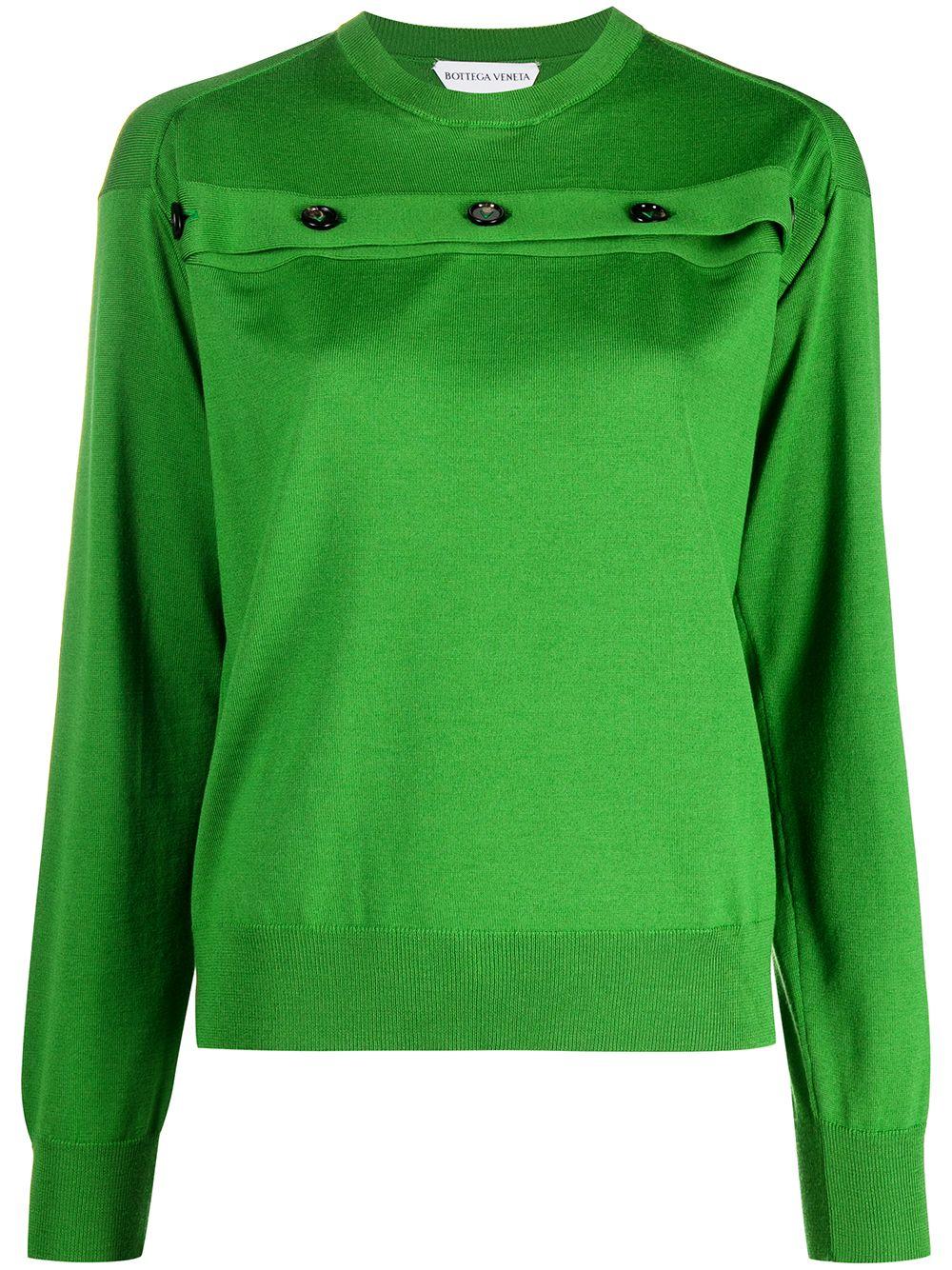 Bottega Veneta Pullover mit Knöpfen - Grün