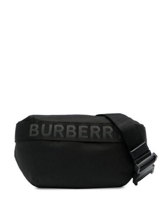 Burberry logo-tape belt bag - Schwarz