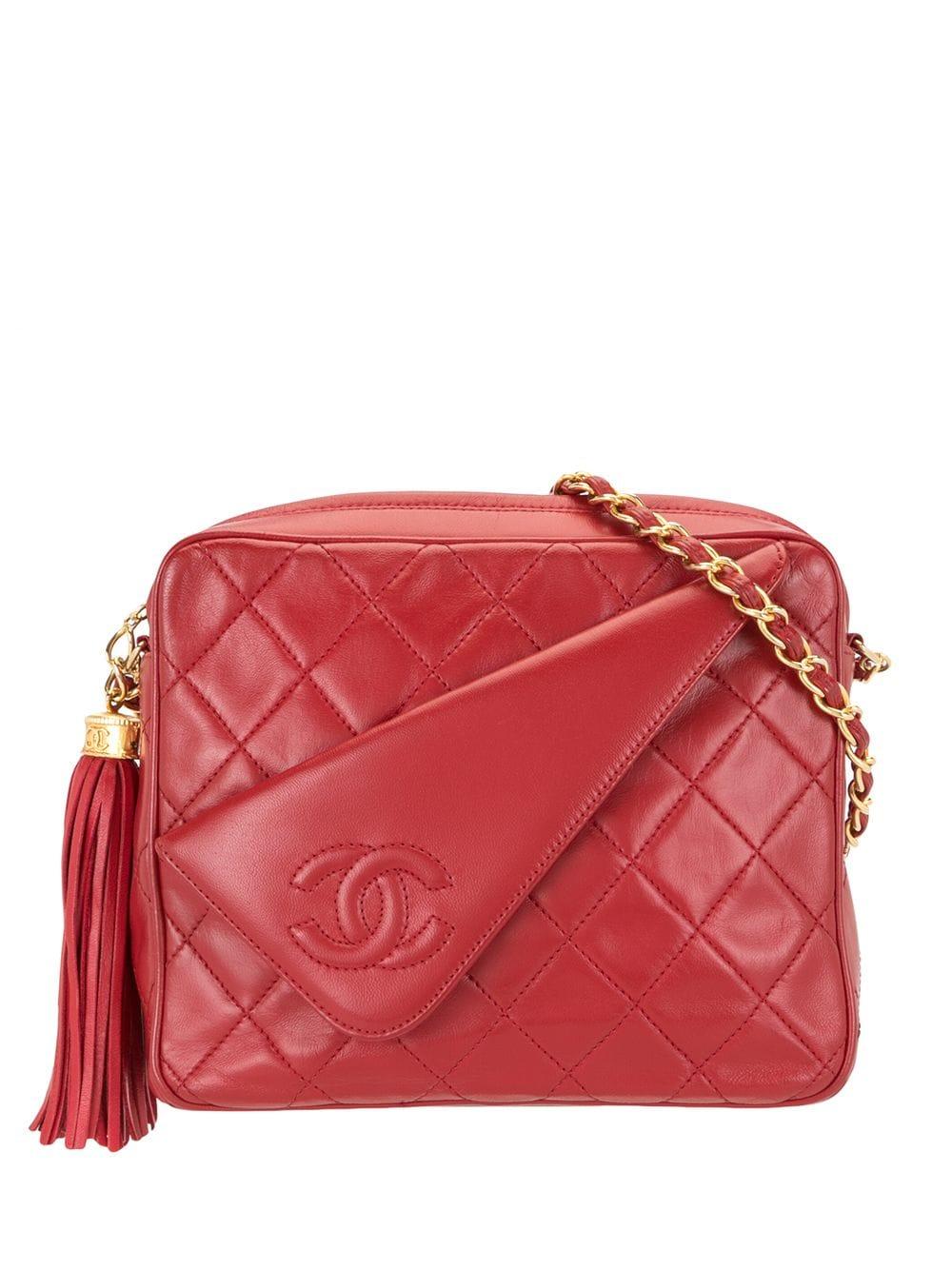 Chanel Pre-Owned 1985-1993 Umhängetasche mit Quaste - Rot