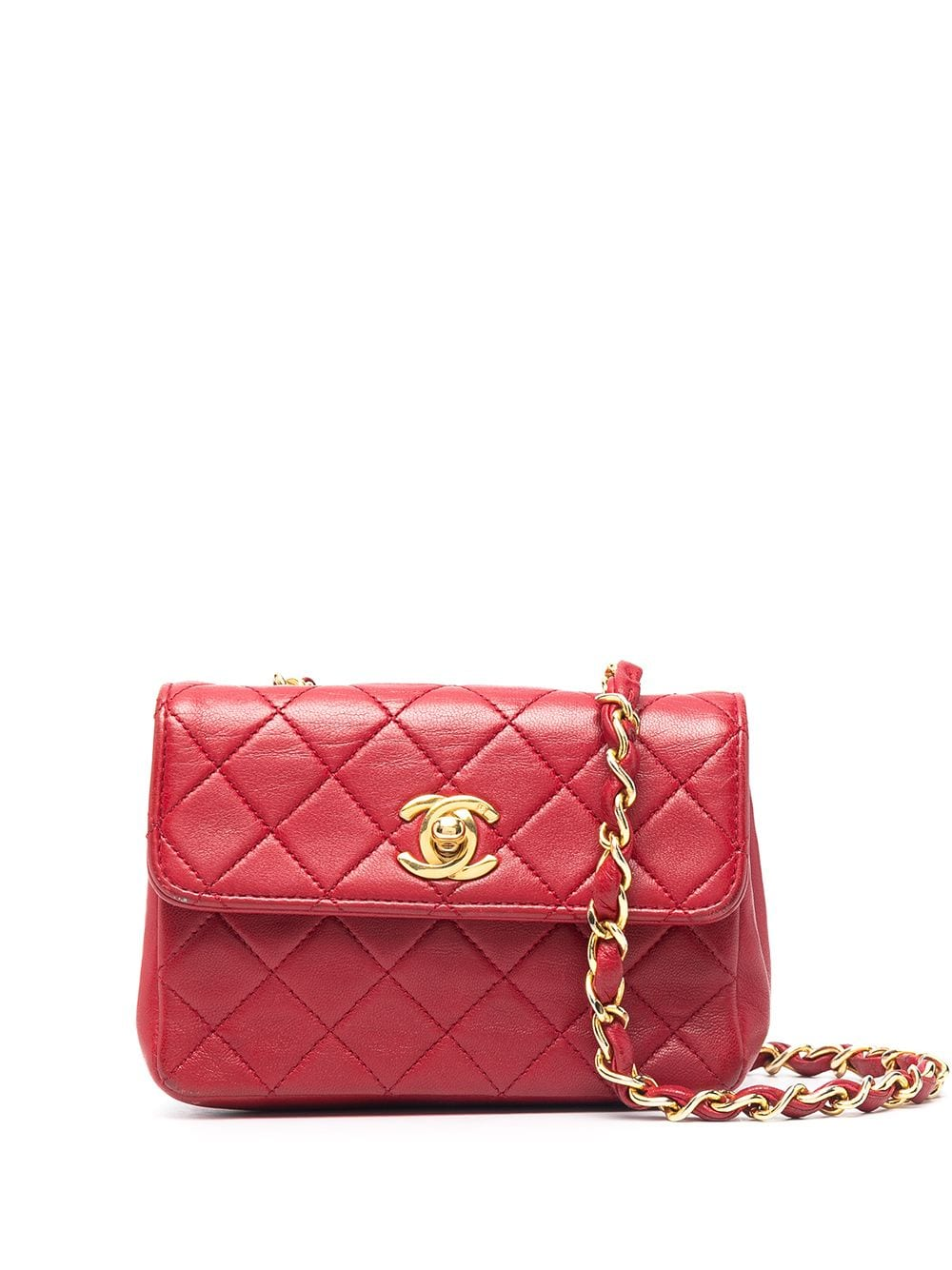 Chanel Pre-Owned 1989-1991 Mini Umhängetasche - Rot