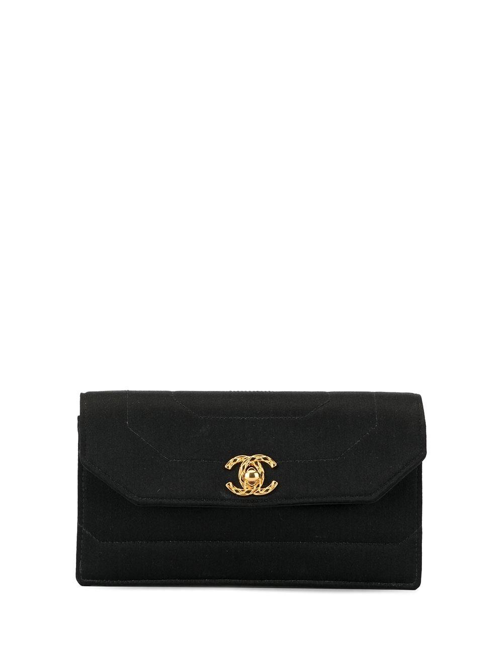 Chanel Pre-Owned 1992 Clutch mit CC-Lock - Schwarz
