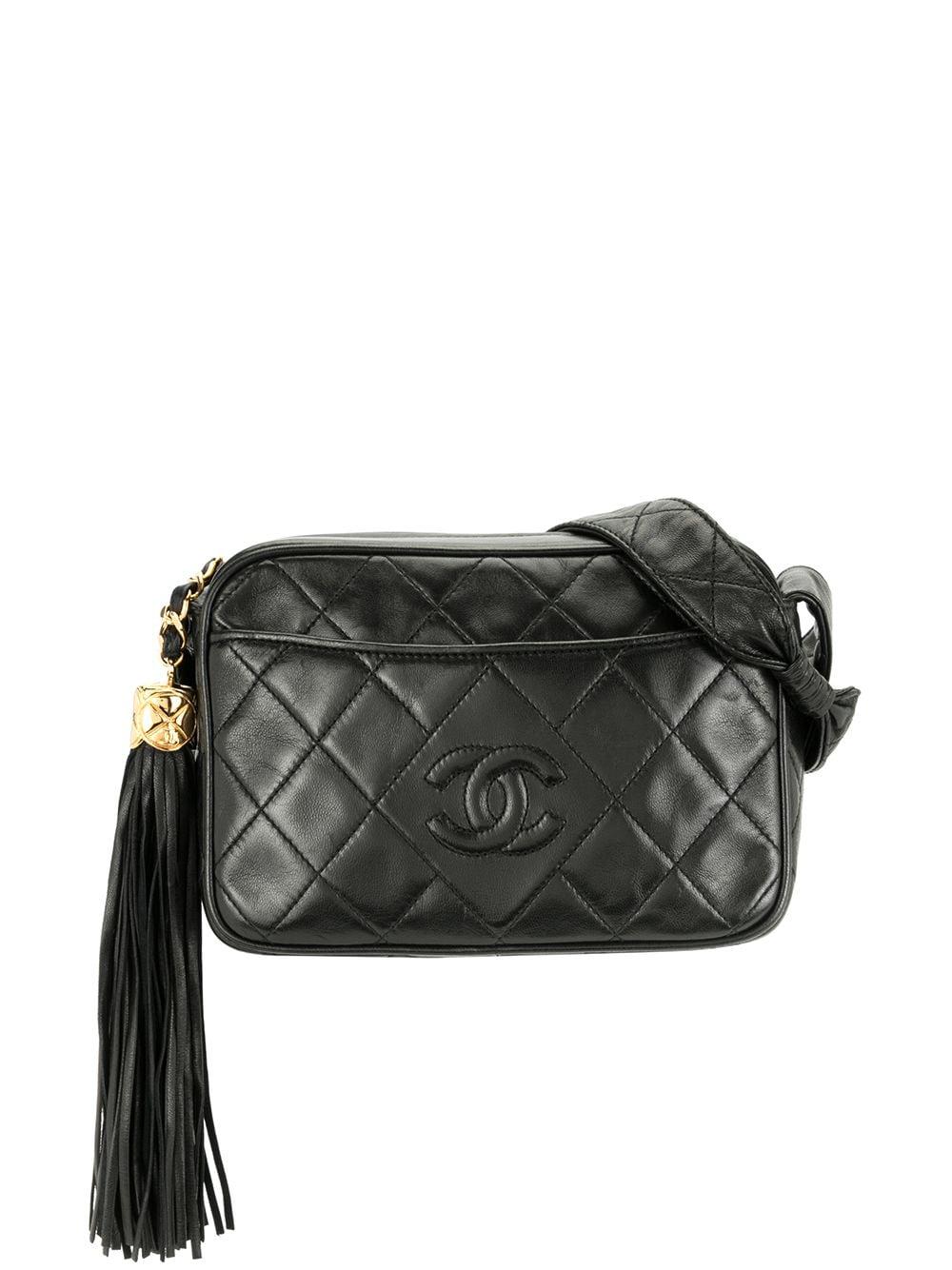 Chanel Pre-Owned 1992 Umhängetasche mit Quaste - Schwarz