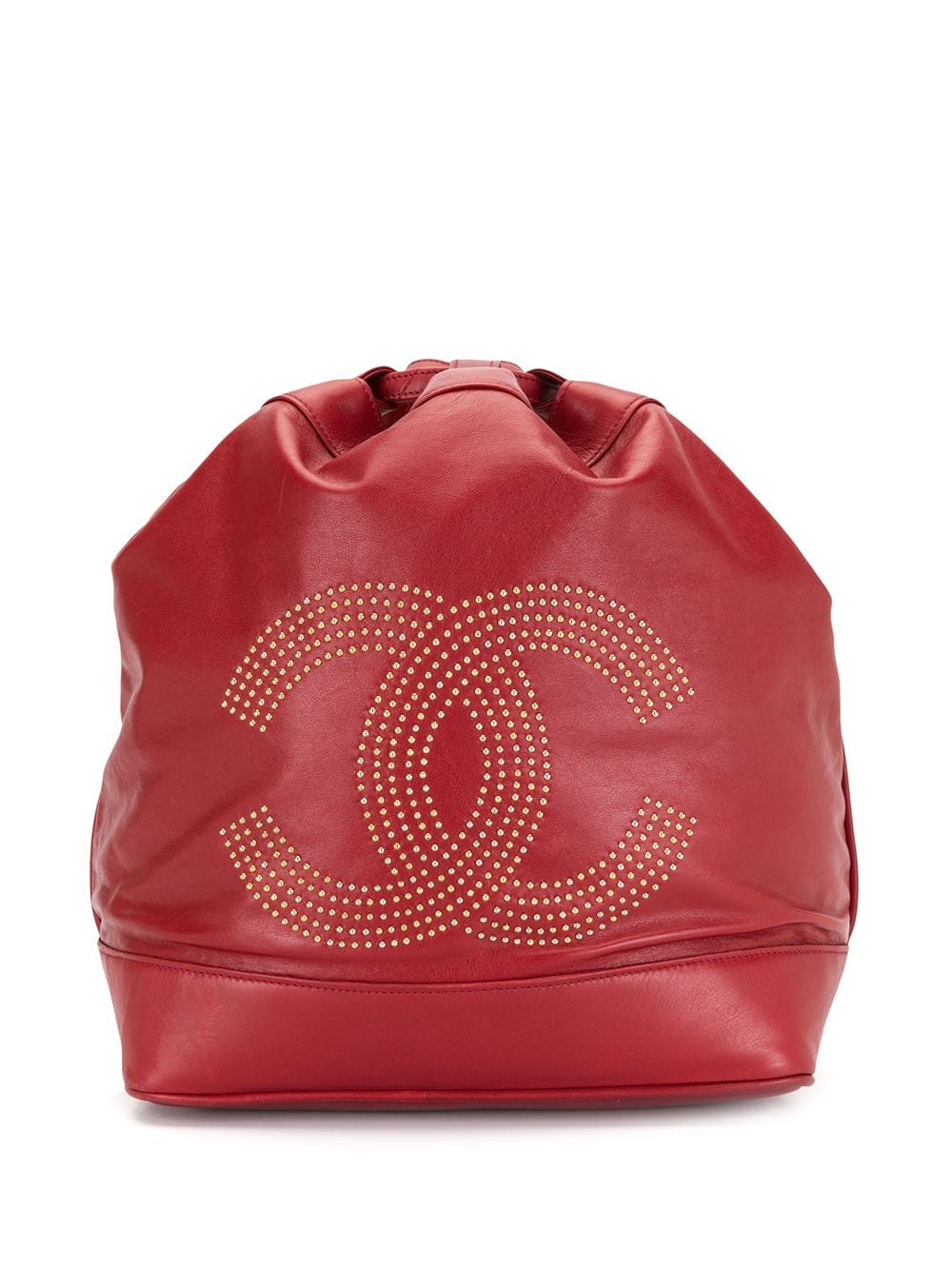 Chanel Pre-Owned 1992 pre-owned Rucksack mit CC - Rot