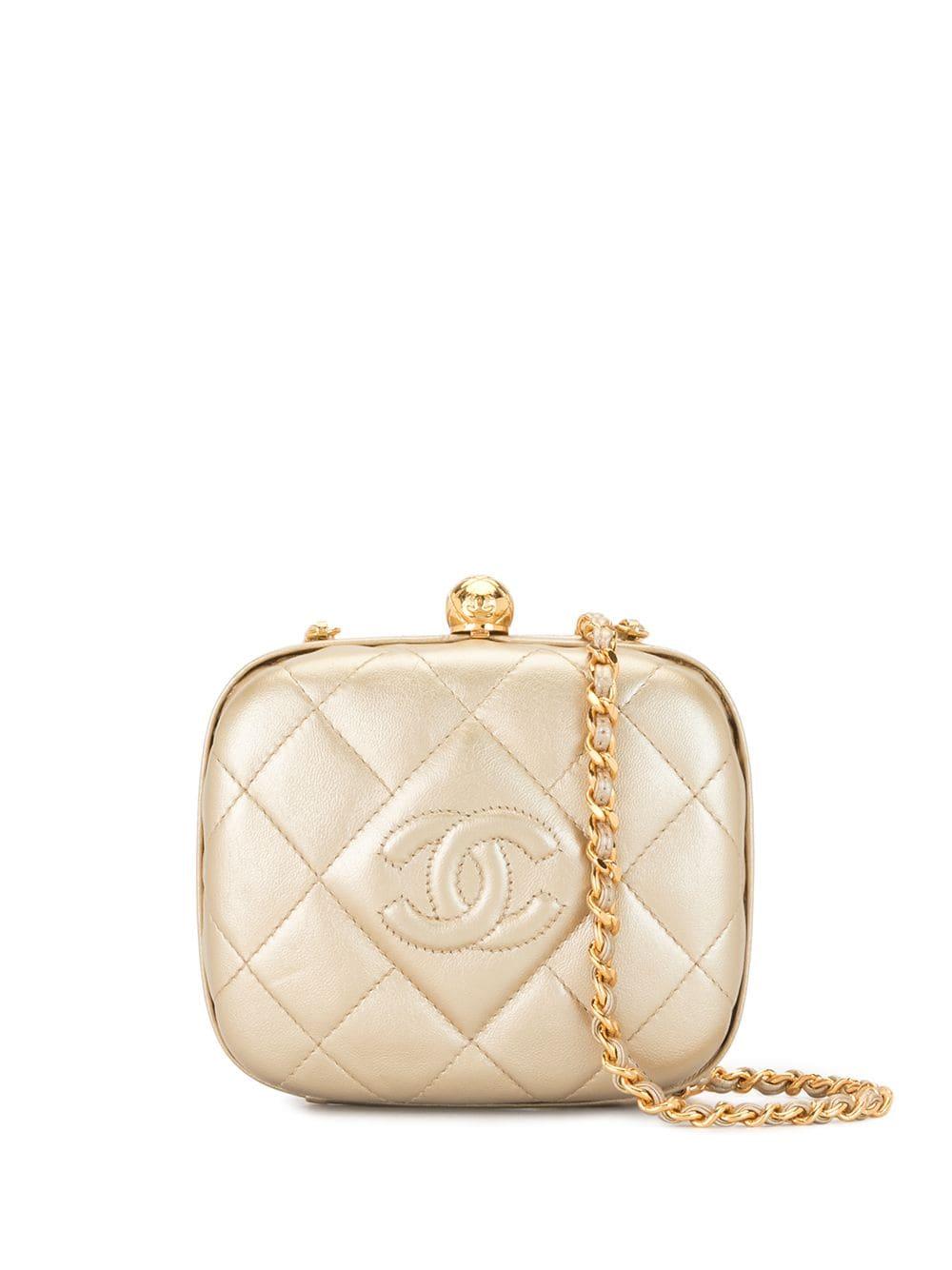 Chanel Pre-Owned 1995 Umhängetasche mit CC - Gold