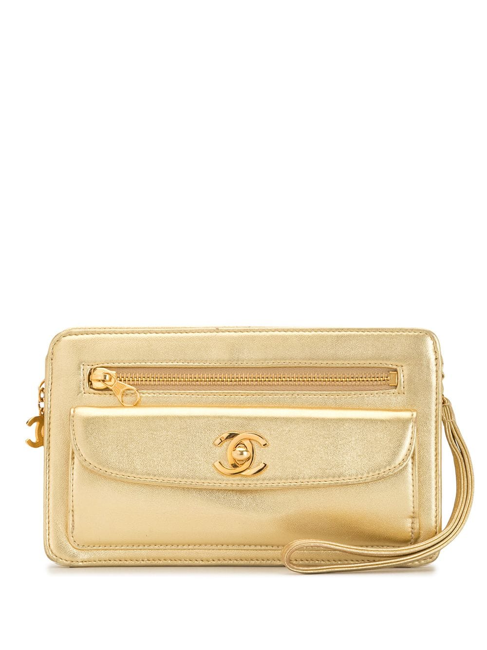 Chanel Pre-Owned 1997 Clutch - Gold