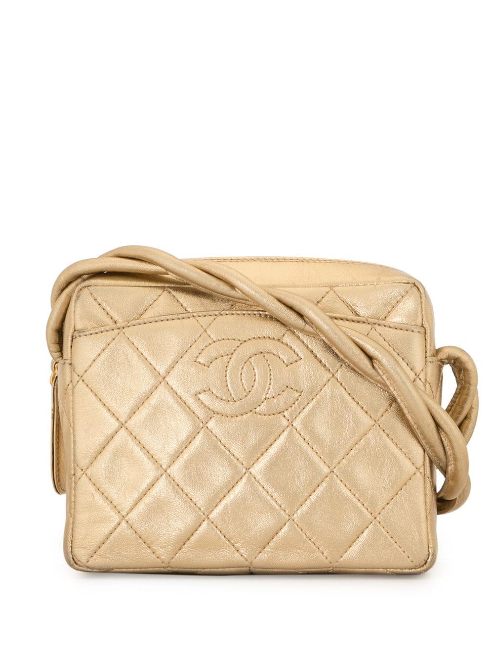 Chanel Pre-Owned 1997 Umhängetasche mit Steppung - Gold