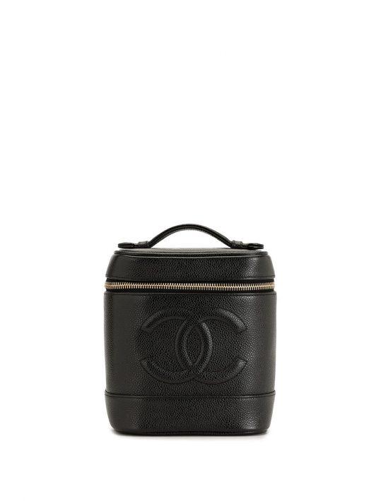 Chanel Pre-Owned 2001-2002 Kosmetikkoffer mit CC-Logo - Schwarz
