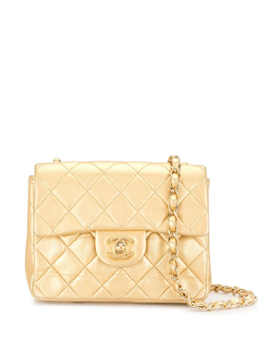 Chanel Pre-Owned 2002 Gesteppte Umhängetasche - Gold