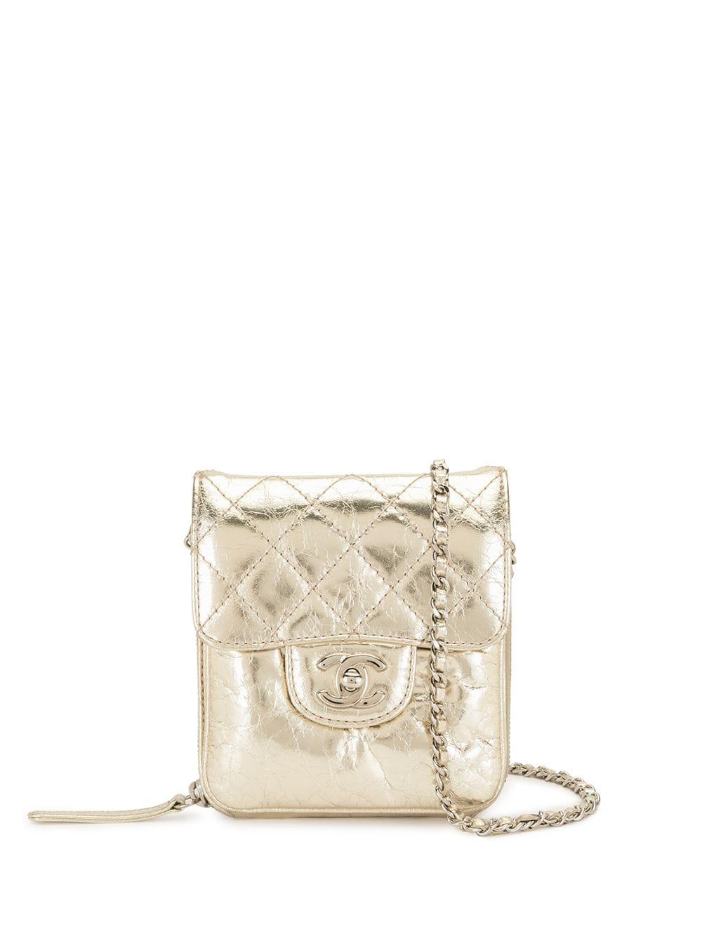 Chanel Pre-Owned 2012-2013 CC-Umhängetasche mit Rautensteppung - Gold