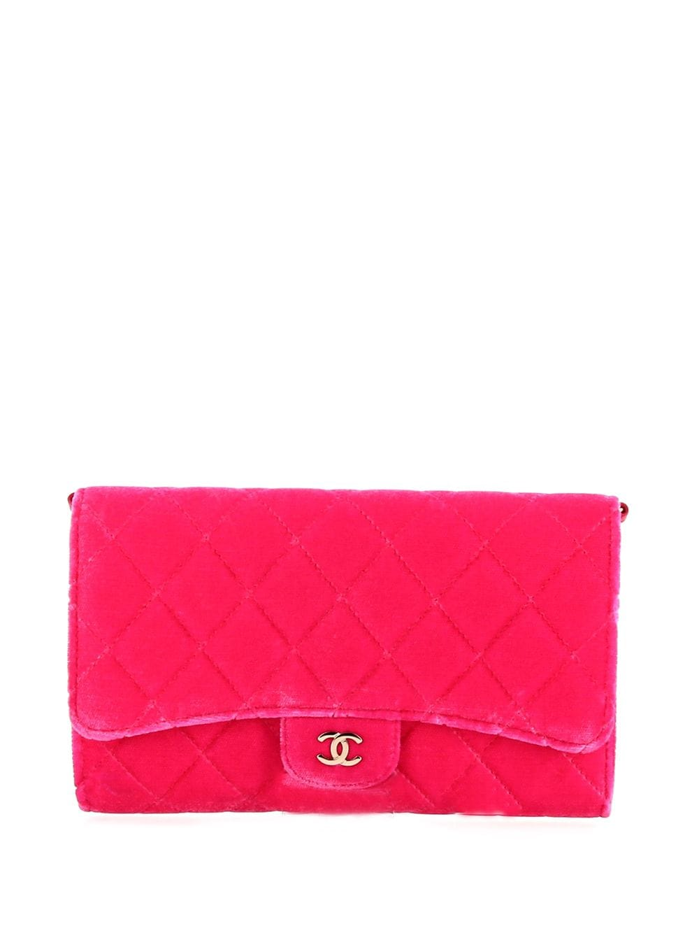 Chanel Pre-Owned 2015 Timeless Clutch mit Rautensteppung - PINK