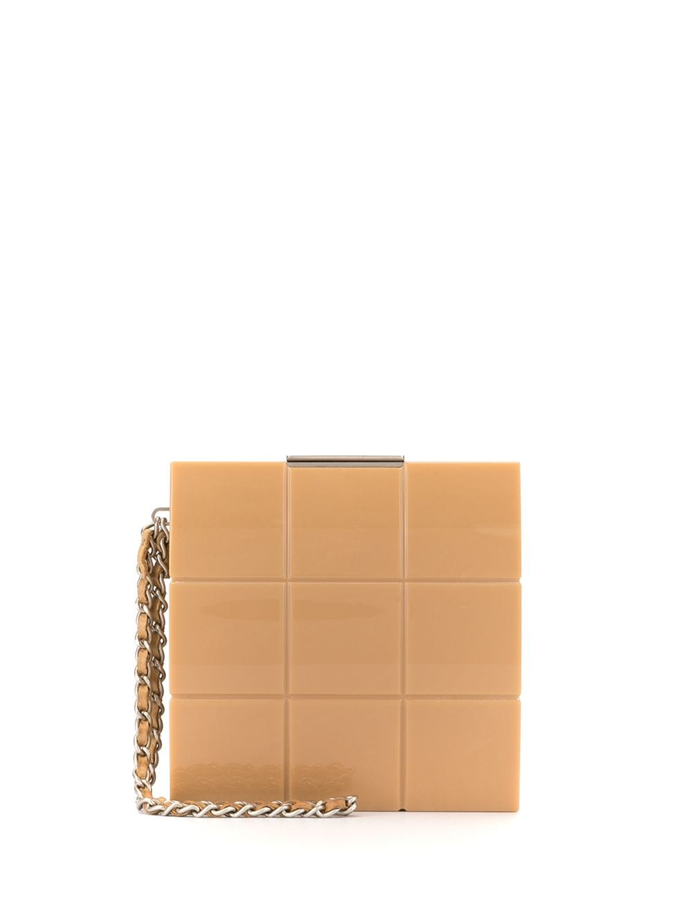 Chanel Pre-Owned Chocolate Bar Clutch - Braun