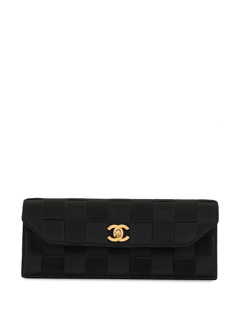 Chanel Pre-Owned 'Chocolate Bar' Clutch - Schwarz