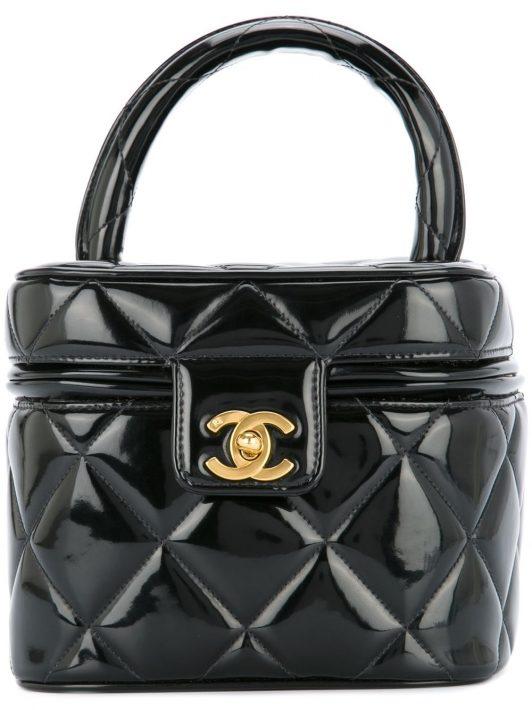 Chanel Pre-Owned Gesteppte Kosmetiktasche - Schwarz