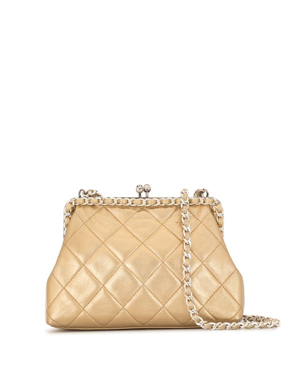 Chanel Pre-Owned Gesteppte Umhängetasche - Gold