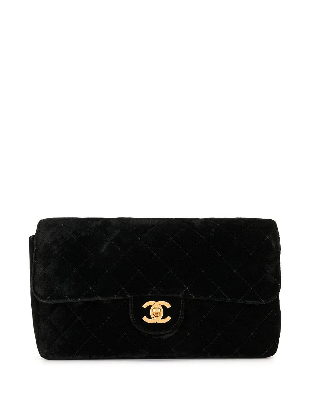 Chanel Pre-Owned Gesteppter 1995 Rucksack mit CC - Schwarz