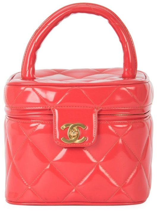 Chanel Pre-Owned Gesteppter Kosmetikkoffer - Rot