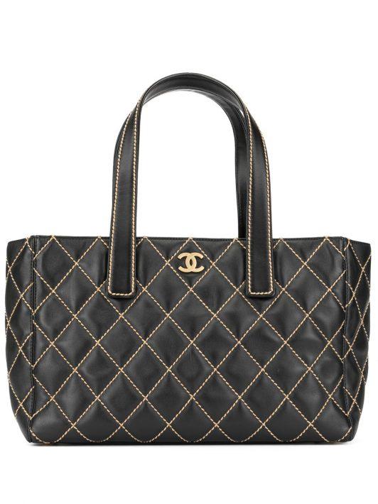 Chanel Pre-Owned Gesteppter Shopper - Schwarz