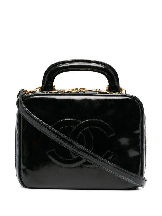 Chanel Pre-Owned Kosmetikkoffer mit CC-Logo - Schwarz