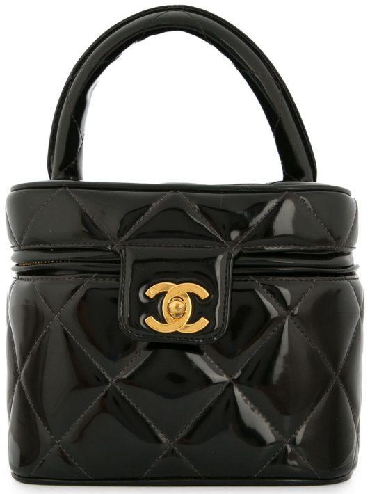 Chanel Pre-Owned Kosmetiktasche mit CC-Logo - Schwarz