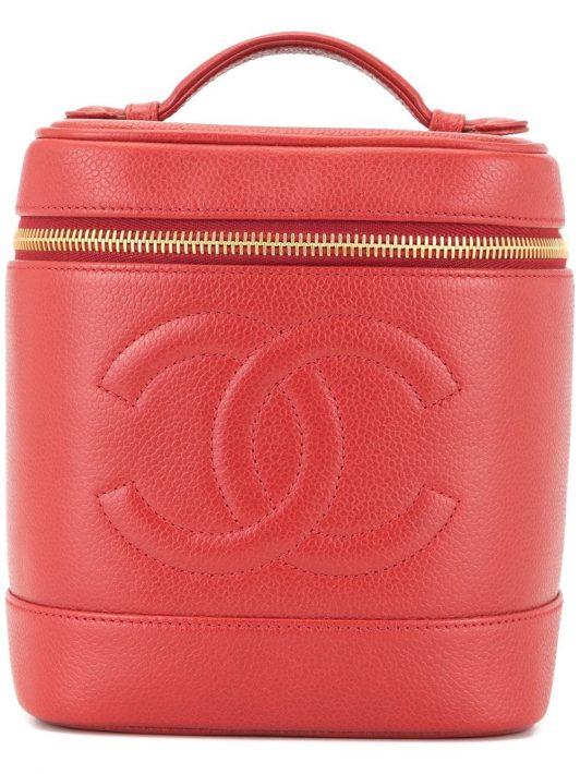 Chanel Pre-Owned Kosmetiktasche mit CC-Logos - Rot