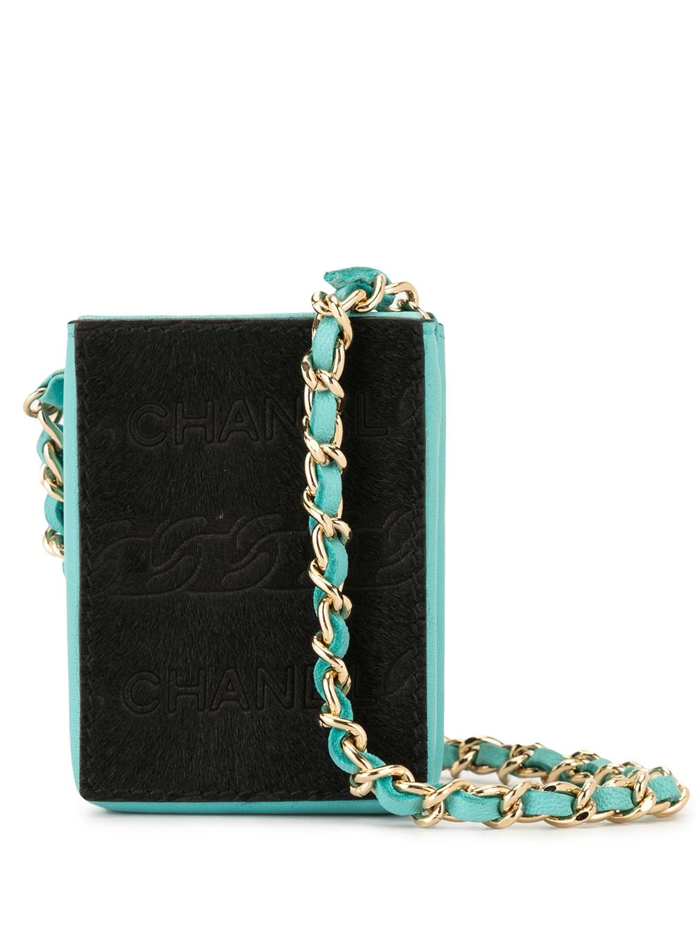 Chanel Pre-Owned Mini Clutch mit Kettenriemen - Blau