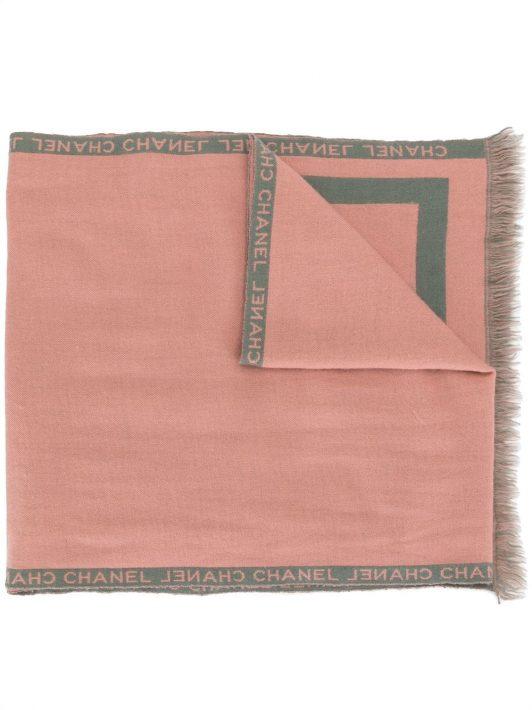 Chanel Pre-Owned Schal mit CC - Grün
