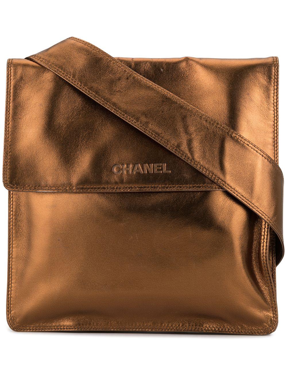 Chanel Pre-Owned Umhängetasche mit Prägung - Gold