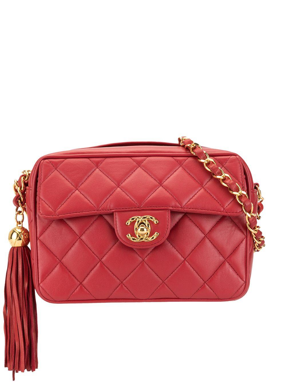 Chanel Pre-Owned Umhängetasche mit Quaste - Rot