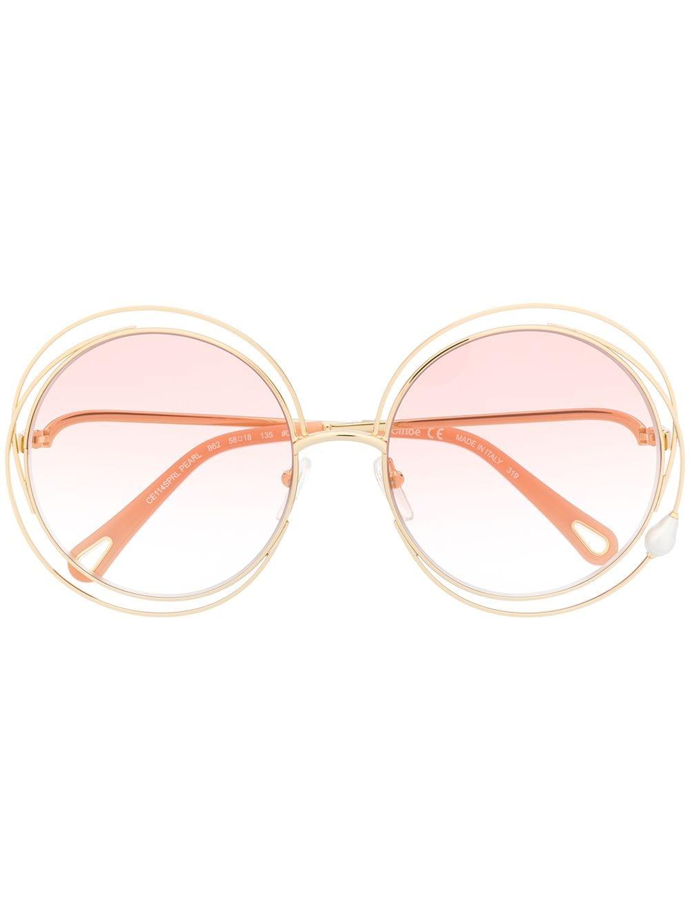 Chloé Eyewear 'Carlina' Sonnenbrille - Gold